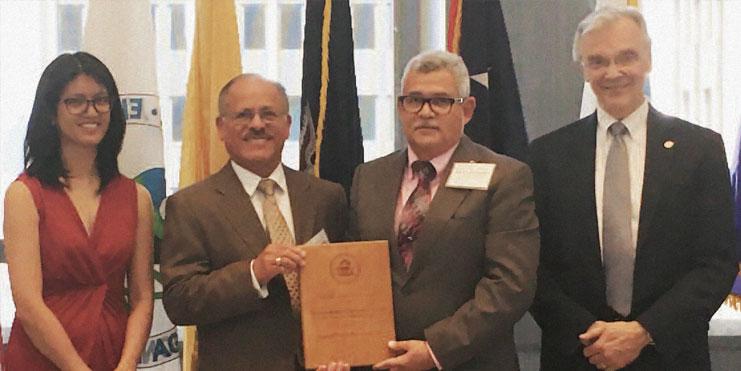 doctor Jose Rodriguez Receiving EPA Award