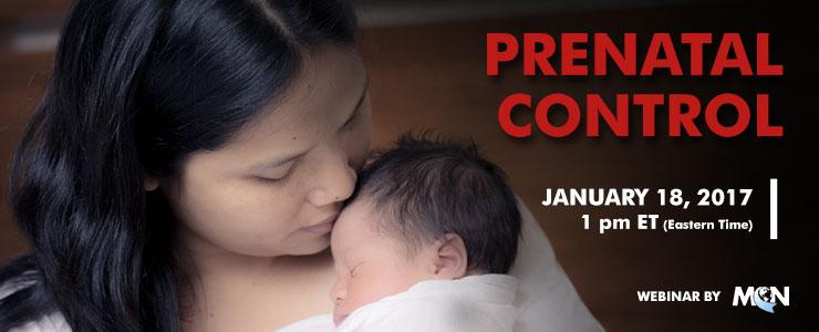 MCN webinar prenatal control