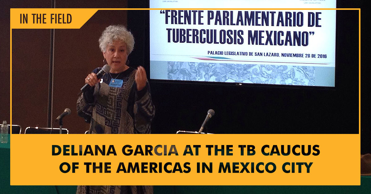 Deliana Garcia lecturing at the TB Caucus of the Americas