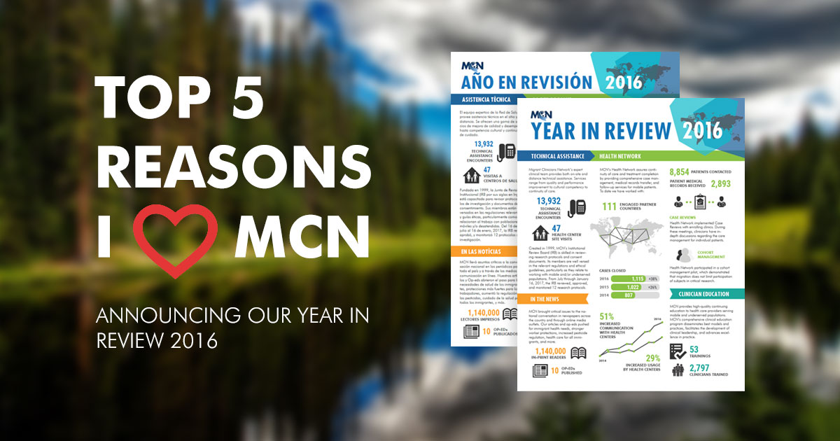 top five reasons I heart MCN - Year in Review 2016