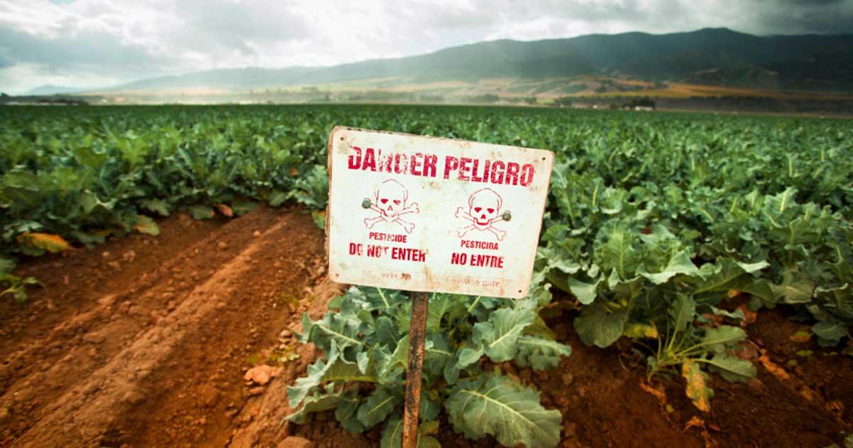 warning sign danger pesticides