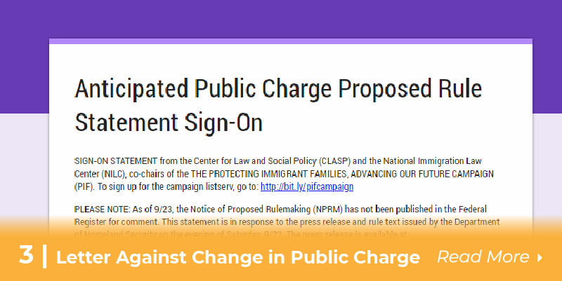 Sign letter against change in public charge