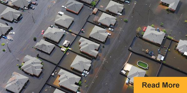 flooded neighborhood houses