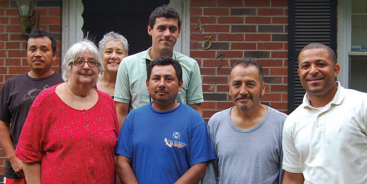Selina Zygmunt (second from left) worked close with MCN through our Hombres Unidos program.
