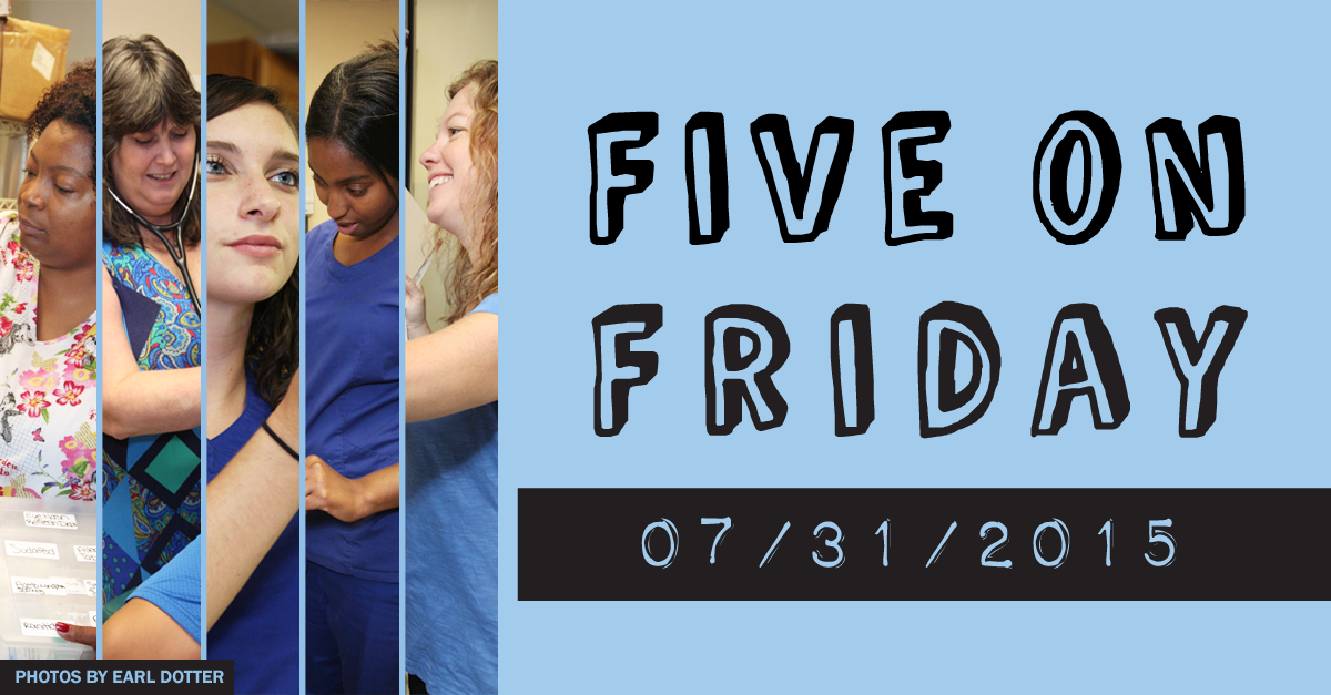 Five on Friday July 31 2015