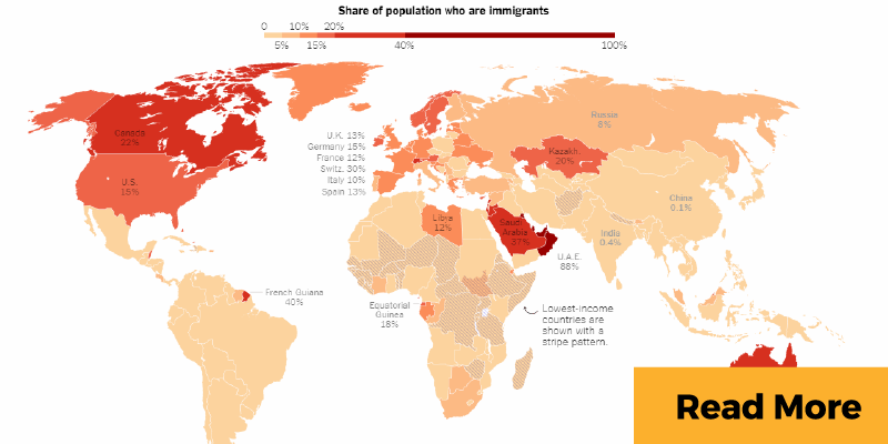 Map of migrant movement