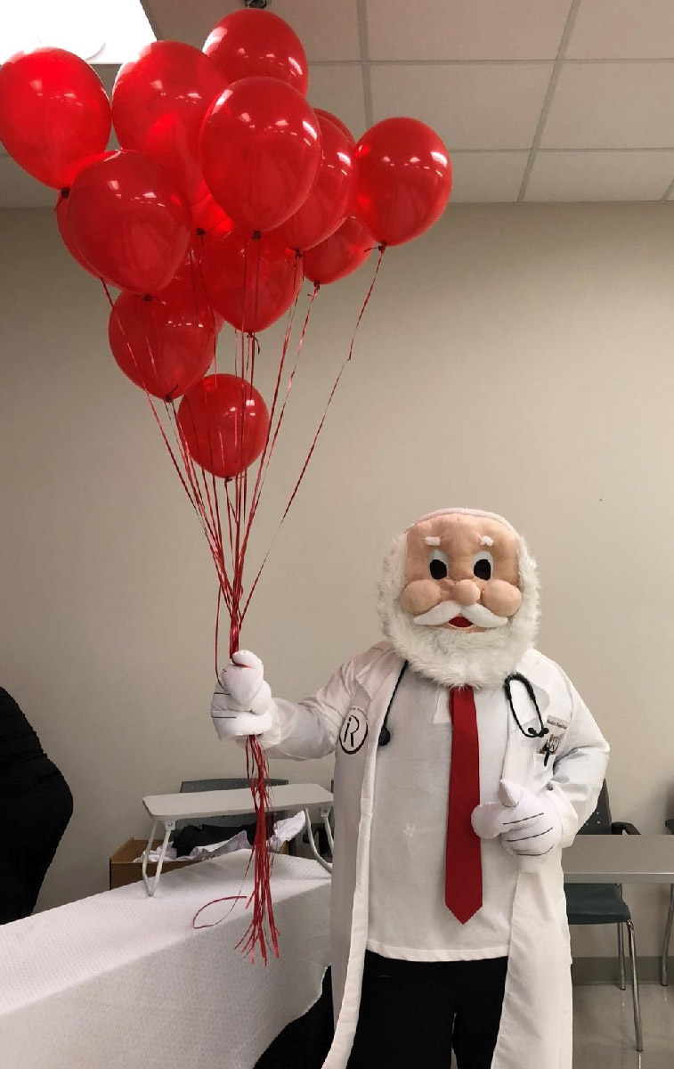 BHW doctor mascot