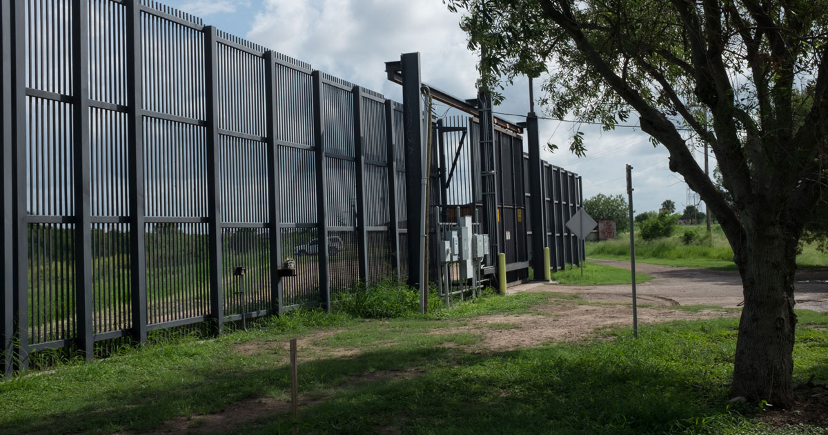 Border wall in Brownsville, Texas