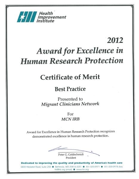 IRB award