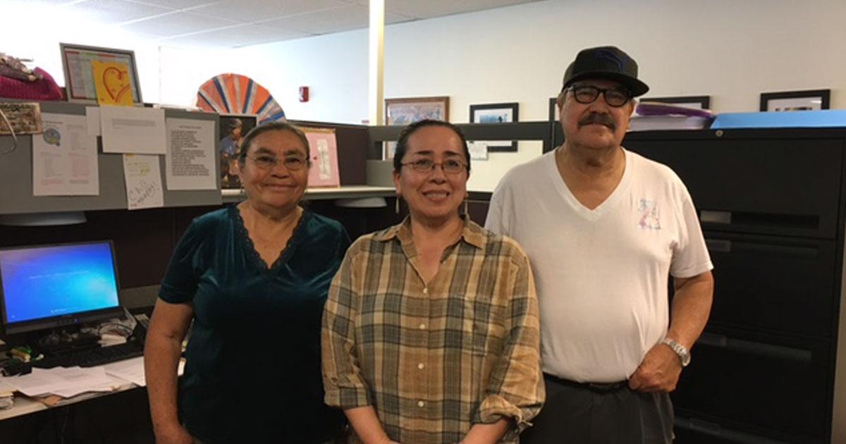 MCN's Alma Galvan with Next Door CHWs Tona Sanchez and Joel Pelayo