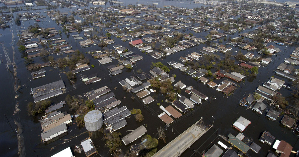 New Orleans Louisiana after Hurricane Katrina