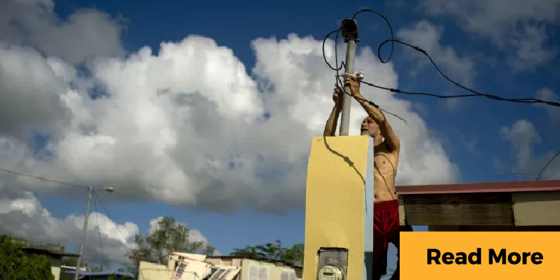 Puerto Rico man repairing electrical system