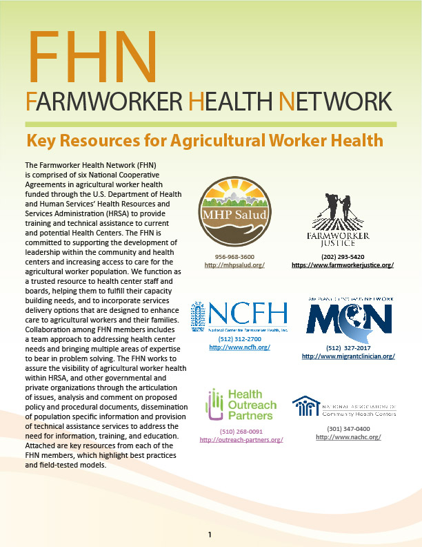 Key resources for Ag worker health