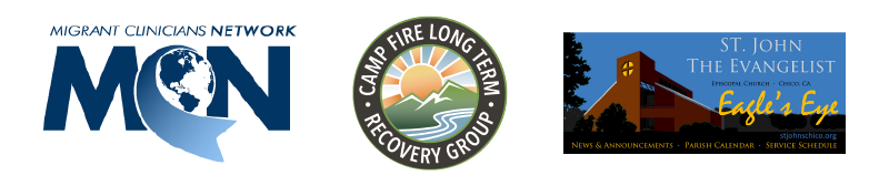 Cosponsors of Witnessing and the Camp Fire webinar: MCN, Camp Fire Long Term Recovery Group, and St. John the Evangelist Episcopal Church