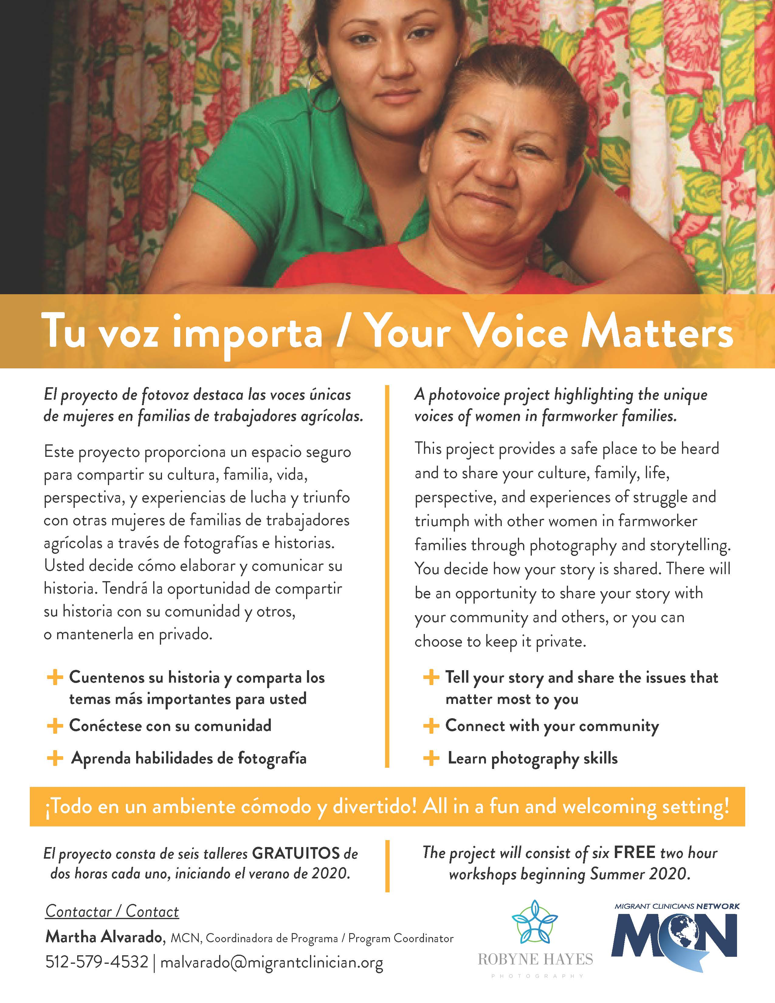 A flyer for the 'Your Voice Matters' photovoice project
