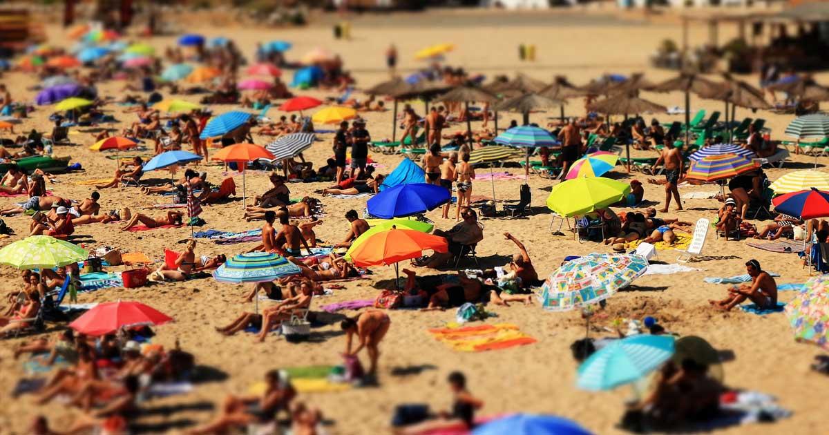 crowd on beach