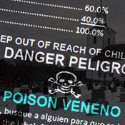 pesticide label and graveyard