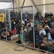 Overcrowding of families at Border Patrol's McAllen, TX, Station