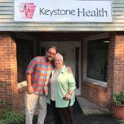 MCN's Dr. Laszlo Madaras with Mary Englerth, PA
