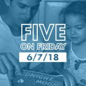 Five on Friday: Man reading with daughter