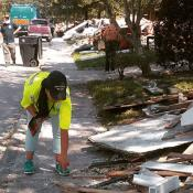 COSH Network staff survey damage to-homes after hurricane Harvey