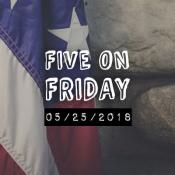 MCN Five on Friday Flag on rock wall