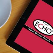 Tablet with Project ECHO logo on screen