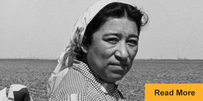 Maria Moreno in a field