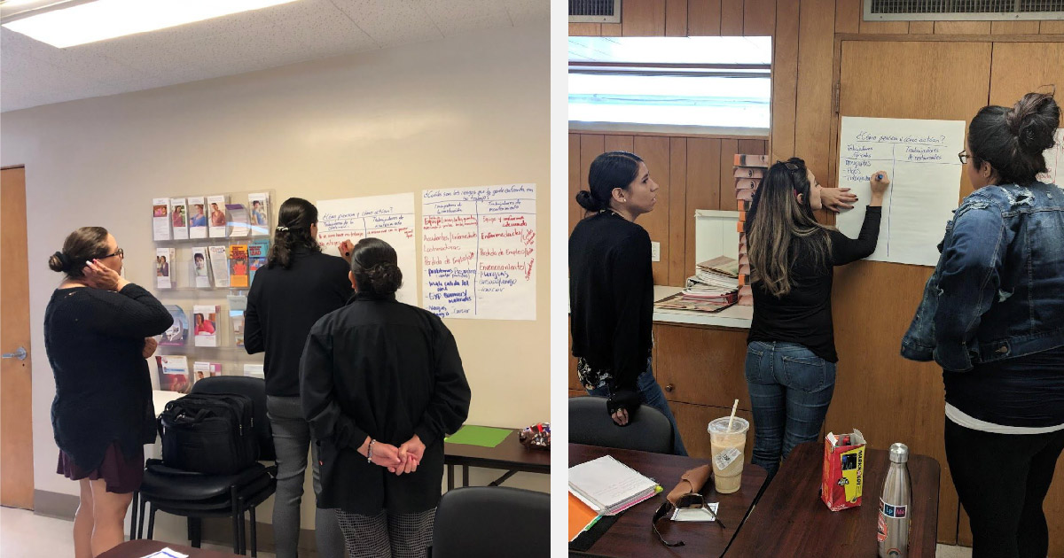 Training of trainers in Calexico, Ca