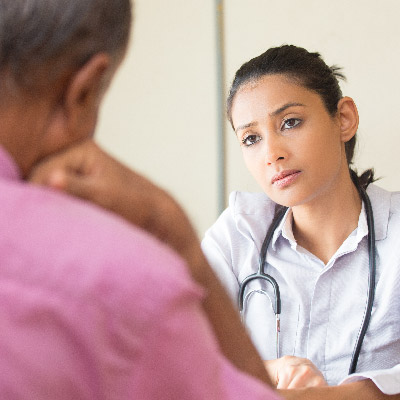 Patient discusses costs with doctor