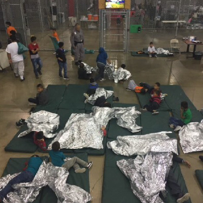 Photo provided by CBP to reporter on tour of detention center