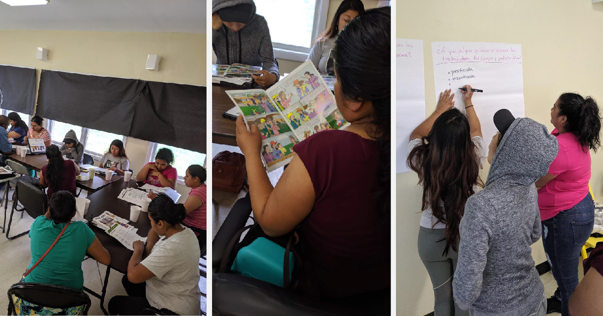 Community Health Worker parents participating in the different aspects of the training