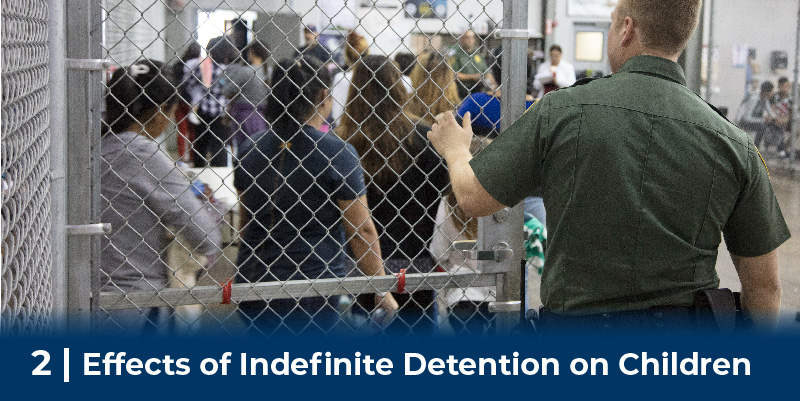 CBP officer opens gate in detention facility