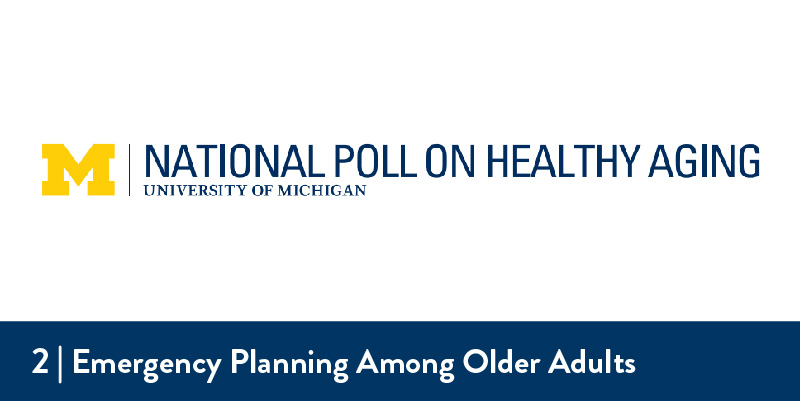 "University of Michigan logo next to the title of the poll,""National Poll on Healthy Aging"""