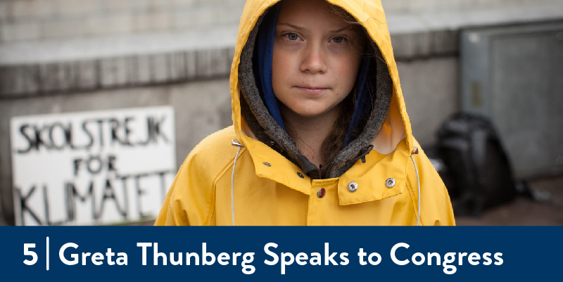 An image of Greta Thunberg at a protest