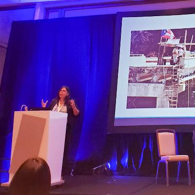 Marysel Pagán Santana presents at the East Coast Stream Forum