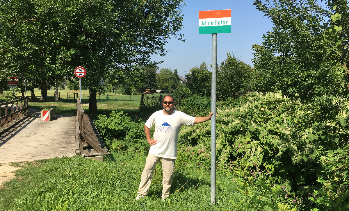 Dr. Laszlo Madaras at the Austro-Hungarian Border