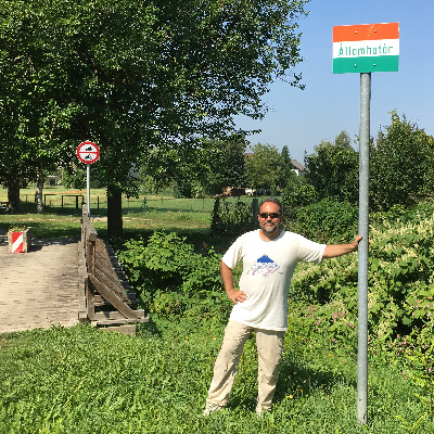 Dr. Laszlo Madaras at the Austro-Hungarian border.
