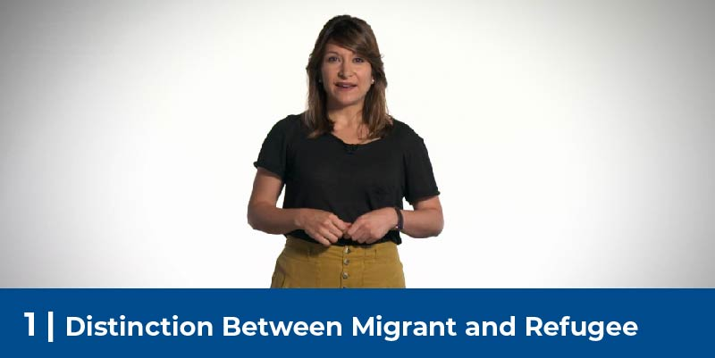 Woman telling her immigration story