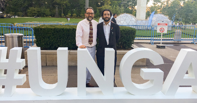 MCN Chief Medical Officer Dr. Laszlo Madaras at the United Nations with new MCN board member Dr. Giorgio Franyuti