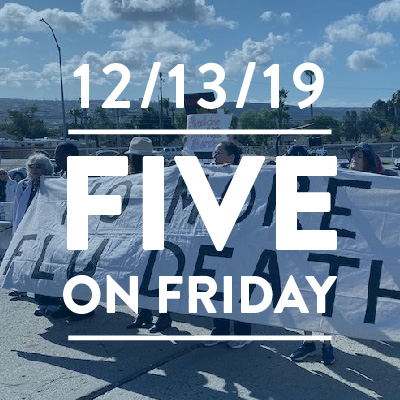 Five on Friday December 13, 2019