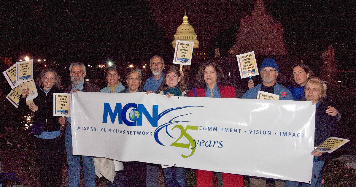 "MCN stands for 'Healthcare Justice for All"" at the capital"