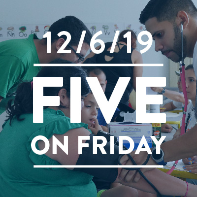 Five on Friday: December 6, 2019