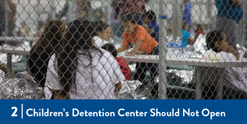 Migrants in detention center