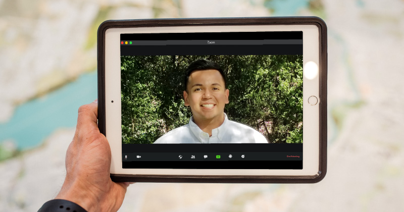 Luis Retta, Health Network Associate, on a virtual call