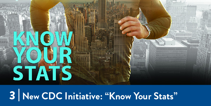"The ""Know Your Stats"" banner from the CDC webpage"