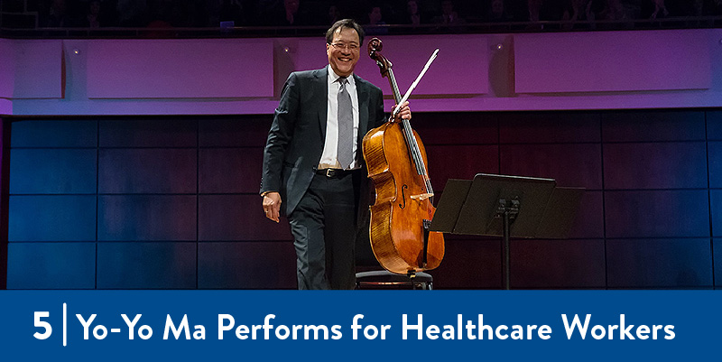 yo-yo ma stands with cello