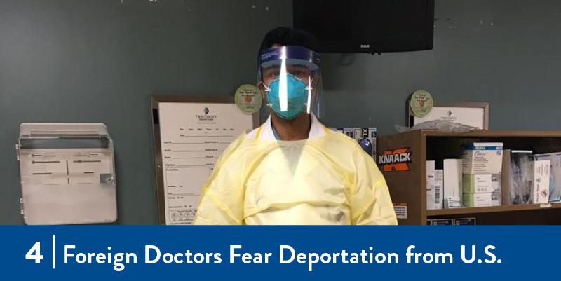 A doctor wearing PPE