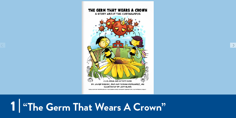 "Cover of storybook titled ""The Germ That Wears A Crown"""
