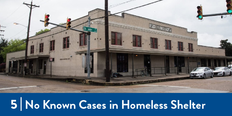 A photo of the outside of the featured homeless shelter